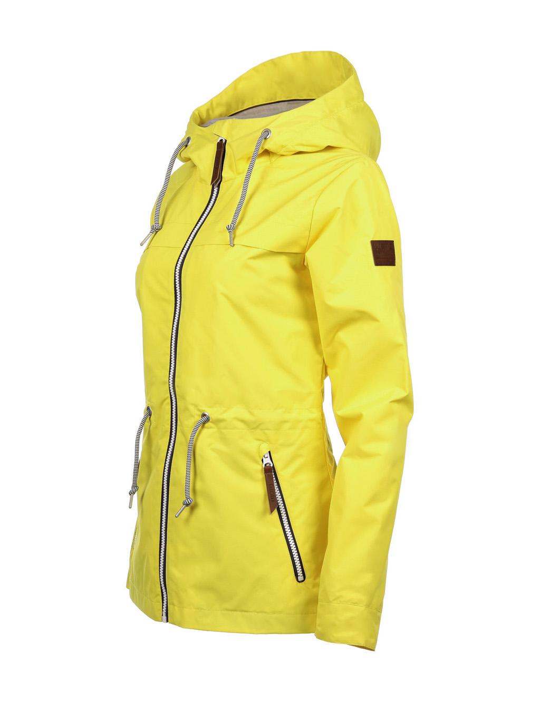 Luoto Kaisla keltainen naisten takki sivu
