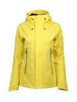 Luoto Maininki keltainen naisten takki etu