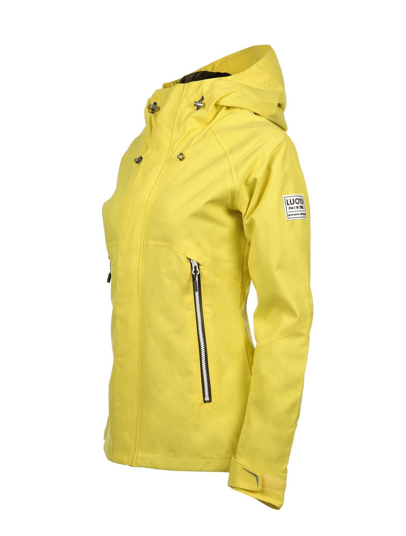 Luoto Maininki keltainen naisten takki sivu