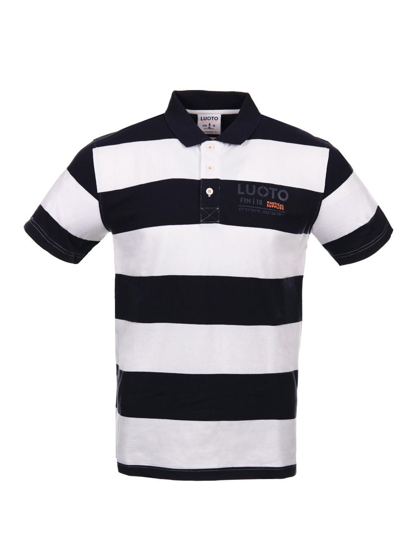 Luoto Poiju Navy pique shirt