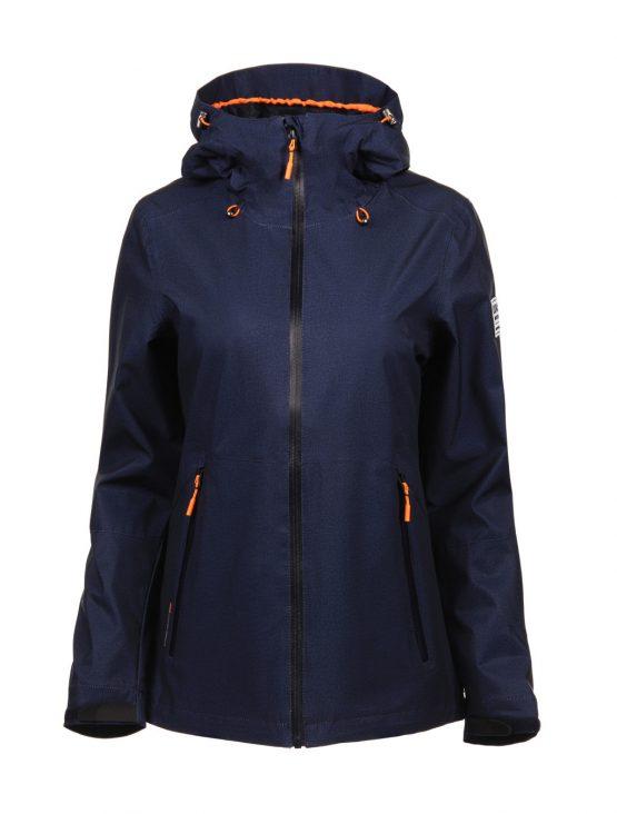 Luoto Saari sininen naisten takki etu