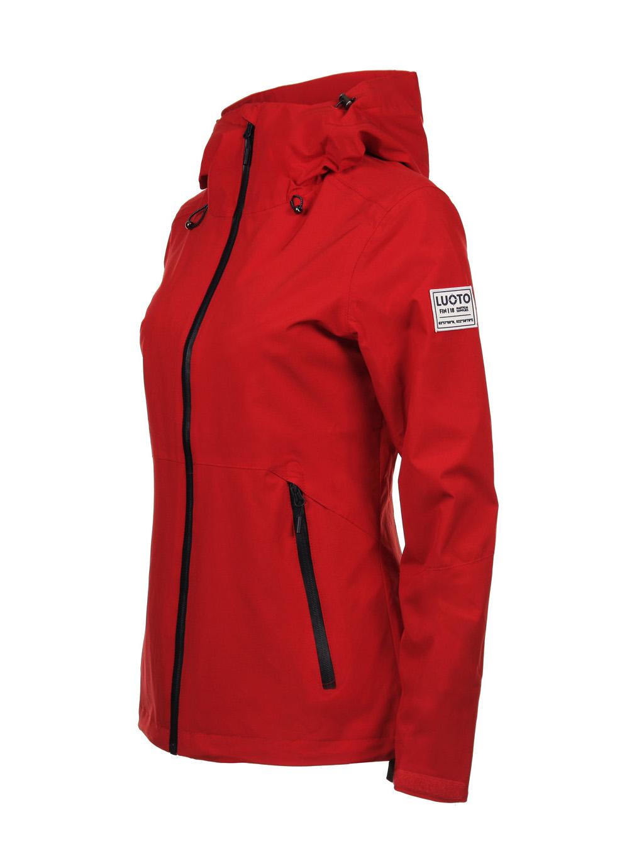 Luoto Saari punainen naisten takki sivu