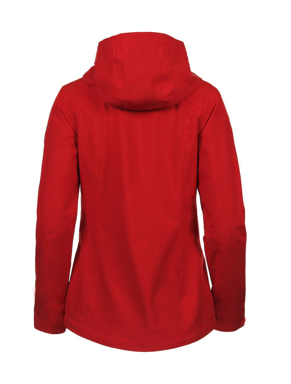 Luoto Saari punainen naisten takki taka