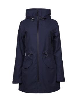 Luoto Kuohu women's navy blue parka jacket